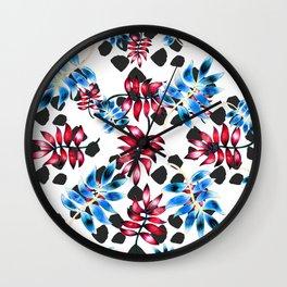 Palm foliage Wall Clock