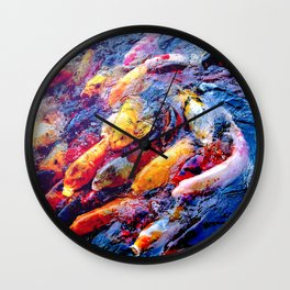Koi Krazy Wall Clock