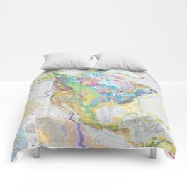 USGS Geological Map of North America Comforters