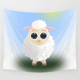 White Sheep Wall Tapestry