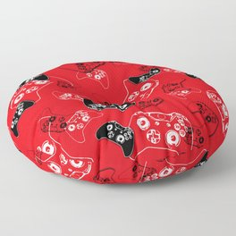 Video Game Red Floor Pillow