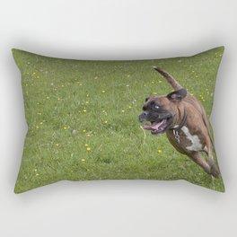 Bailey Boxer Dog Rectangular Pillow