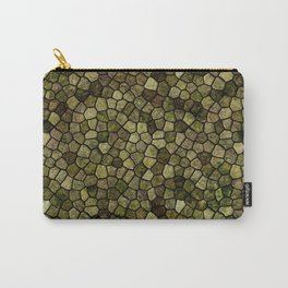 Faux Toad Skin Abstract Pattern Carry-All Pouch