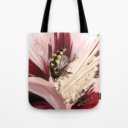 Wasp on flower 7 Tote Bag