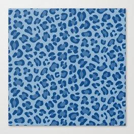 Leopard Print - Classic Blue Canvas Print