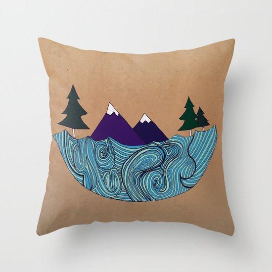 Pacific NorthFresh Throw Pillow