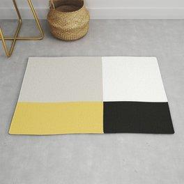 Minimal Abstract Yellow White Black 04 Rug
