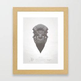 California Condor Skull Framed Art Print