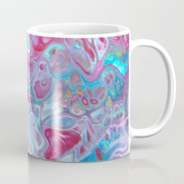 Fluid Nature - Marbled Candy - Abstract Acrylic Pour Art Coffee Mug