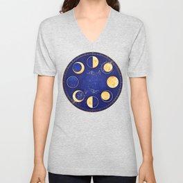 Celestial Atlas :: Lunar Phases Unisex V-Neck