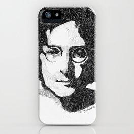johnlennon portrait iPhone Case