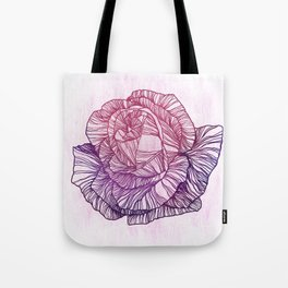 Purple rose Tote Bag