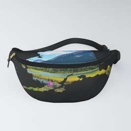Alaska Outline - God's Country Fanny Pack