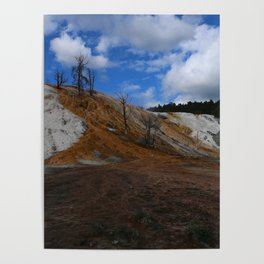 Mammoth Hot Spring Colors Poster