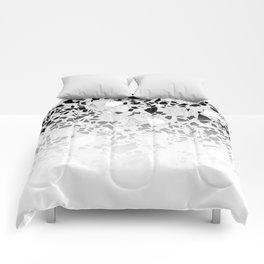 Concrete Terrazzo and Black and White Modern Monochrome Design Comforters