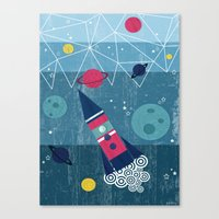 spaceship Canvas Prints featuring Spaceship by Kakel