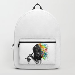 Indian Silhouette With Colorful Headdress Backpack