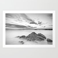 Seascape of calm waters Art Print