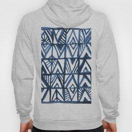 Geometric Indigo Hoody