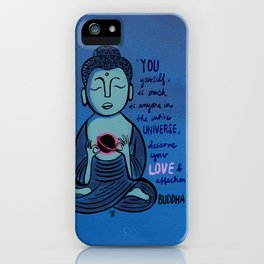 Buddha Quote1 iPhone Case