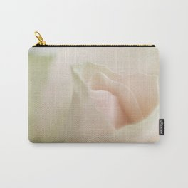Pale pink macro rose 2 Carry-All Pouch