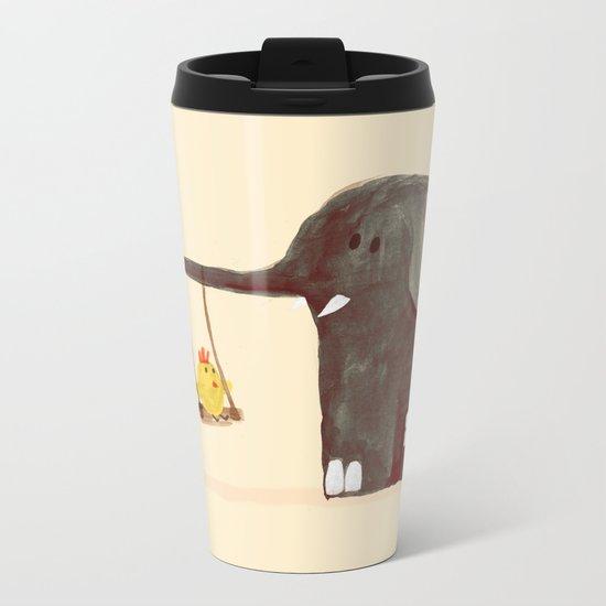 Elephant Swing Metal Travel Mug