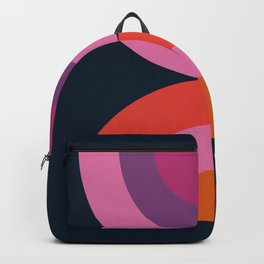 Cya Later - retro minimalist 70s colorful abstract art 1970's vintage style vibes Backpack
