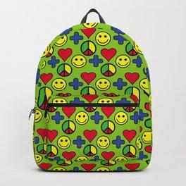 Positivity Peace Joy Happiness LIME LG Backpack