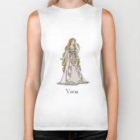 valar morghulis Biker Tanks featuring Vana by wolfanita
