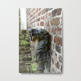 Charleston Hitching Post Metal Print