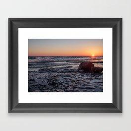 Sandbanks Sunset 2 Framed Art Print