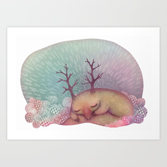 Deep Winter Dreaming (With Eyes Closed) Art Print