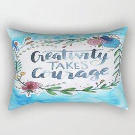 Creativity Takes Courage Rectangular Pillow