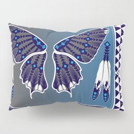 Butterfly Nation Blue Pillow Sham