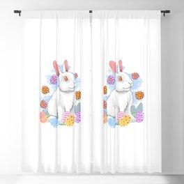Easter Rabbit Bunny Eggs Flower Spring Blackout Curtain