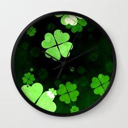 Shamrocks  St. Patrick's Day Wall Clock