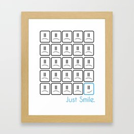 Just Smile Framed Art Print