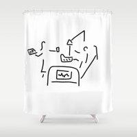 nurse Shower Curtains featuring nurse hospital patient by Lineamentum