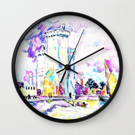 Paul Signac - The Rochelle - Digital Remastered Edition Wall Clock