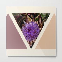 geometrical pastel artichoke flower Metal Print