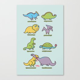 know your dinosaurs Canvas Print