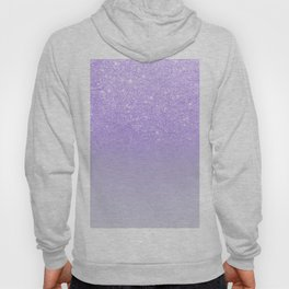 Modern purple sparkles ombre glitter lilac pastel color block Hoody
