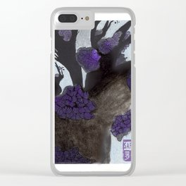Purple Cherry Blossoms (2 of 3) Clear iPhone Case