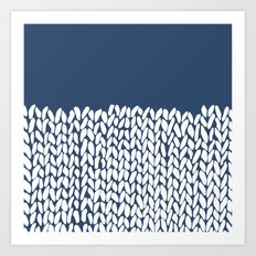 Half Knit Navy Art Print
