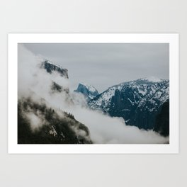 Tunnel View Clouds Art Print