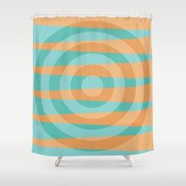 Orange blue circle design Shower Curtain