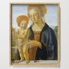 """Andrea del Verrocchio """"Madonna and Child"""" Serving Tray"""