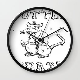 Gutter Trash Wall Clock