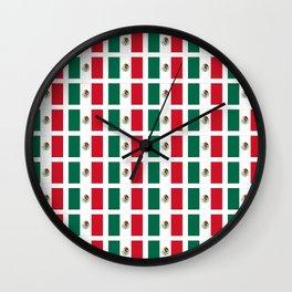 Flag of mexico 2- mexico,mexico city,mexicano,mexicana,latine,peso,spain,Guadalajara,Monterrey Wall Clock