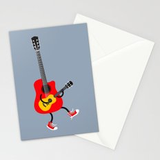 Dancing guitars Stationery Cards